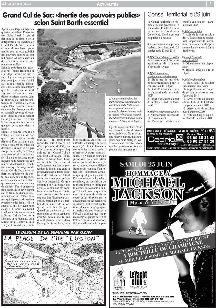 Journal de St Barth, no.933, June 22, 2011