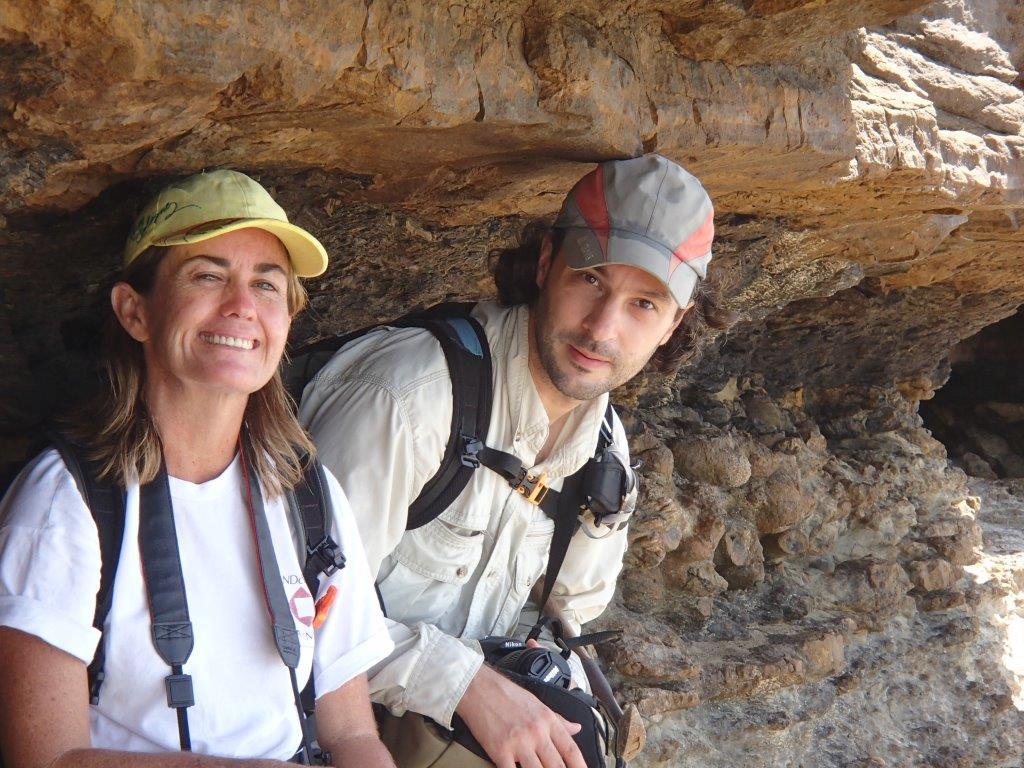 Hélène Bernier ans geologist Yves Mazabraud at Colombier