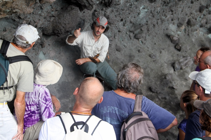 Geologist Yves Mazabraud explaining St Barth geology