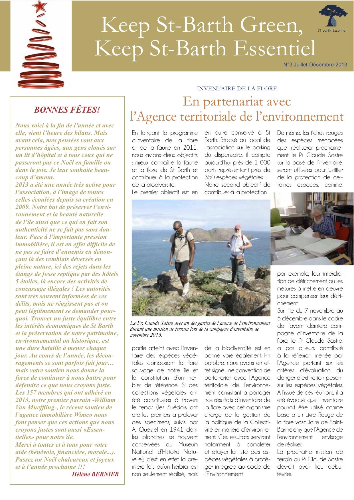 NEWSLETTER N°3 – décembre 2013