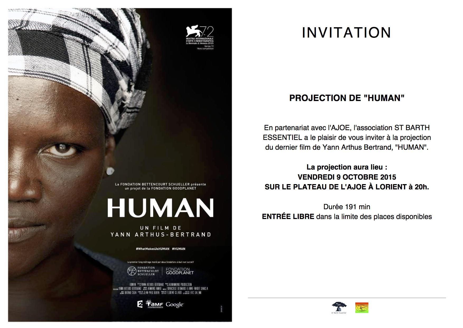 «HUMAN», YANN ARTHUS BERTRAND'S FILM PROJECTED AT AJOE