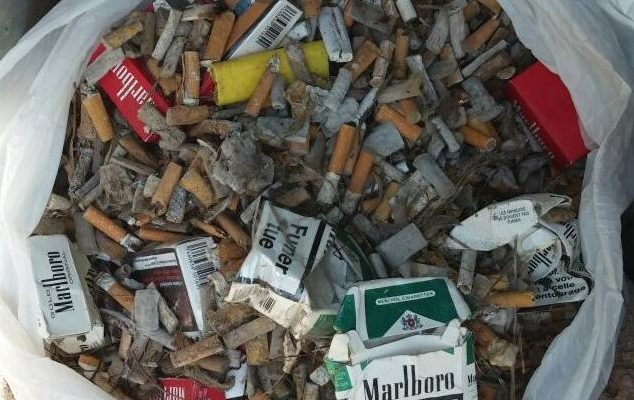THIRD OPERATION OF collecting cigarettes ends