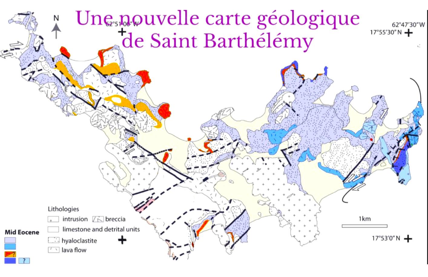 CE QUE NOUS APPRENNENT LES ROCHES DE ST BARTHÉLEMY