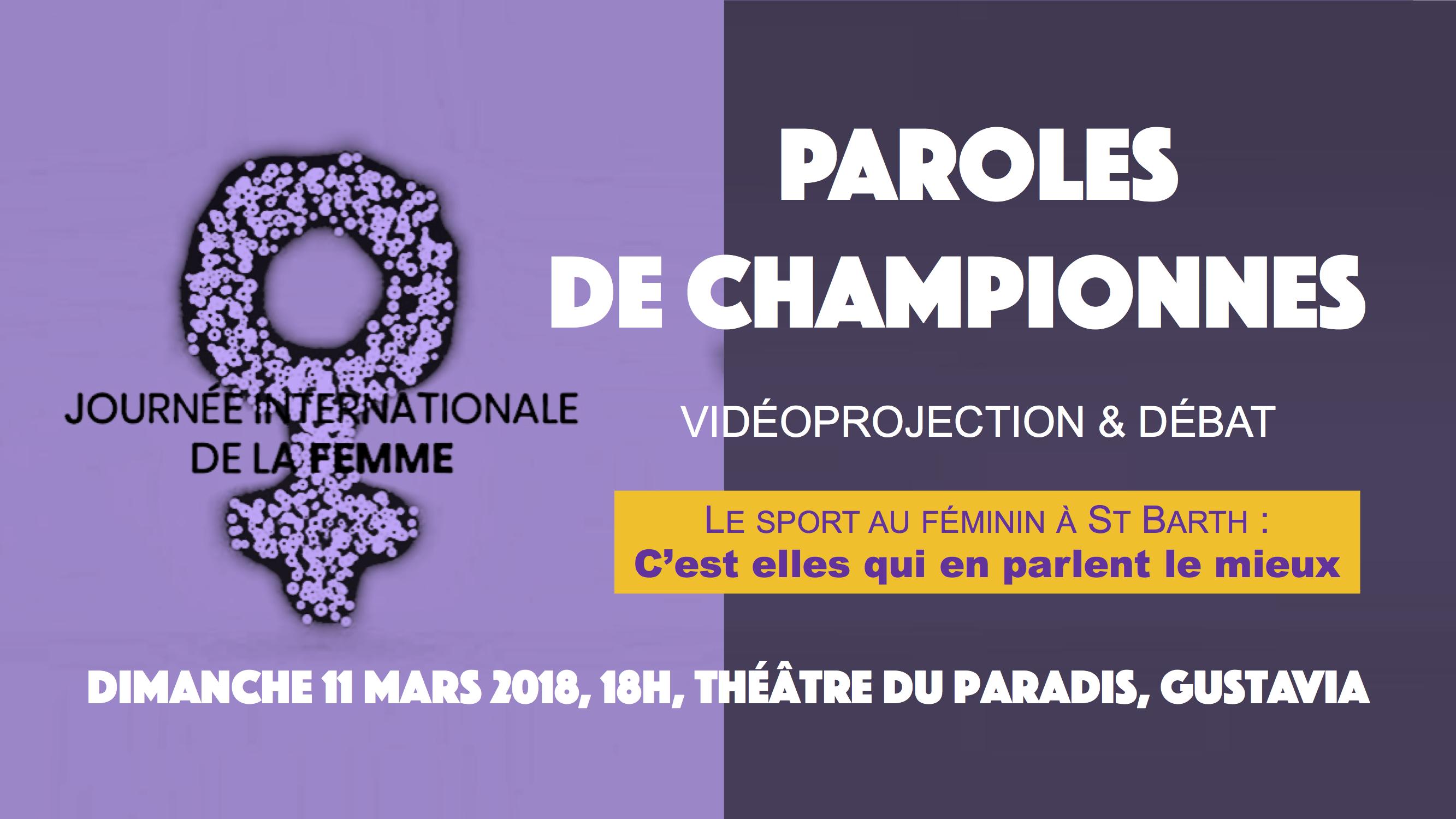 Journée internationale de la Femme: la parole aux championnes!